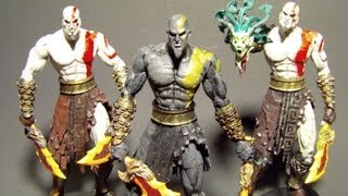NECA DARK ODYSSEY KRATOS GOD OF WAR 2 ACTION FIGURE TOY REVIEW