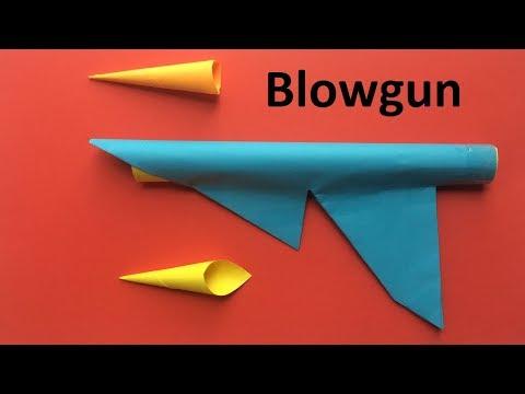 How to make a paper blowgun | Ninja weapon Easy paper Blowgun