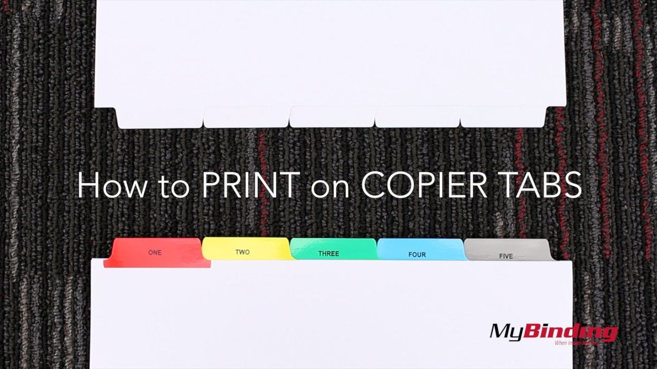 how to print on copier tabs youtube
