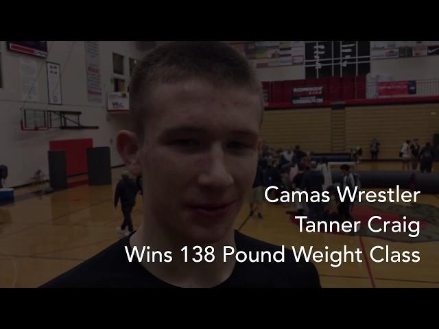 Camas Wrestler Tanner Craig Wins Weight Class at Rose City