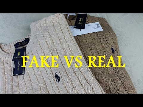REAL VS FAKE Ralph Lauren Sweater | How To Spot Replica Ralph Lauren