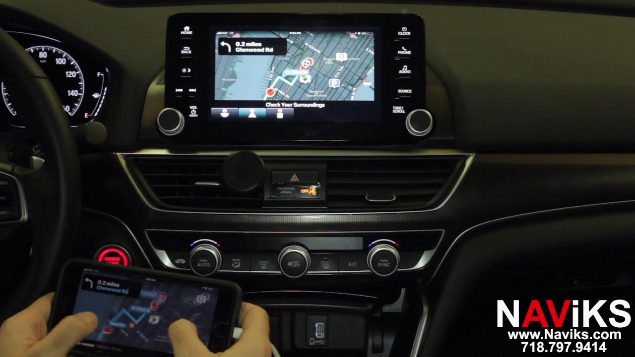 2018 Honda Accord Hondalink Naviks Video Interface Add Smartphone