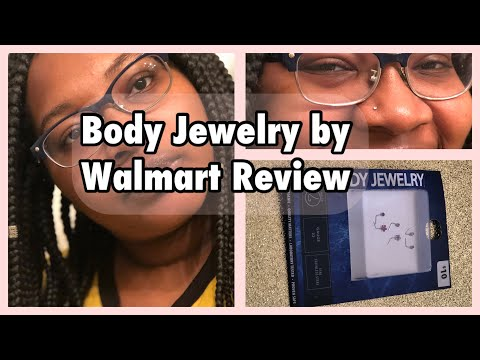 Body Jewelry By Walmart Review 2 Nose Rings L Shape Nose