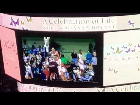 "Kobe Bryant - Celebration of Life 24.02 Maroon 5 - ""Memories"""
