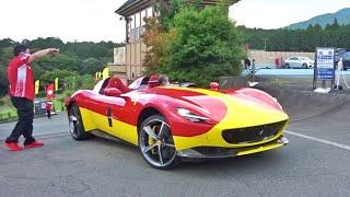 【フェラーリブランチ】モンツァSP1他、フェラーリ加速サウンド/Ferrari sound in Japan. Monza SP1, Pista, F12 and more. #フェラーリ #SP1