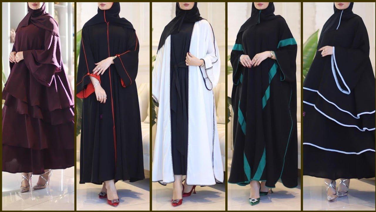 اجمل تصاميم العبايات الخليجية السوداء ج2 شيك وموضة فساتين تستحق المشاهدة Amazing Black Abaya Dresses