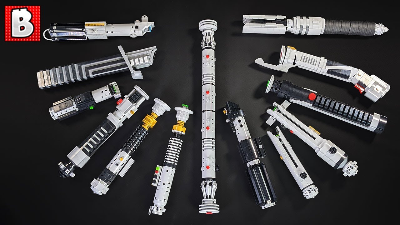 Amazing LEGO Lightsaber Collection! Custom Darth Vader, Luke, Anakin, Obi-Wan, and MORE!