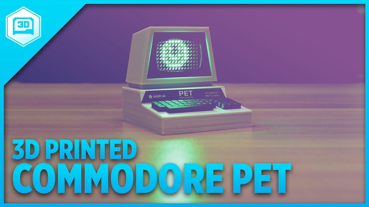 Mini Commodore PET – 3D Printed with LED Matrix - YouTube