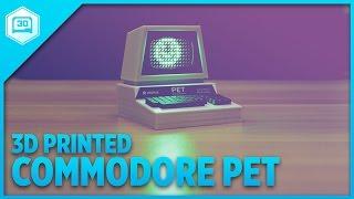 Mini Commodore PET – 3D Printed With LED Matrix