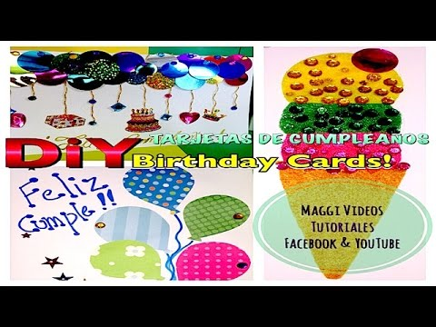 Como hacer tarjetas de cumplea os 3d youtube for Hacer tarjeta cumpleanos