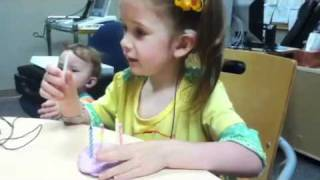 Abigail's cochlear implant activation Thumbnail