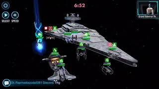 SWGOH SHIPS! Tarkin vs. Chimera with Bistan