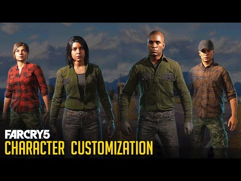 Far Cry 5 - All Character Customizations (Male & Female) All Faces/Hair/Clothes
