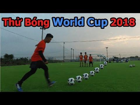 Thử Thách Bóng Đá : lần đầu thử bóng World Cup 2018 với Bùi Tiến Dũng Nhí -  Telstar Ball
