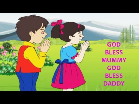 God Bless Mummy God Bless Daddy Nursery Rhyme - Animated Songs for Children