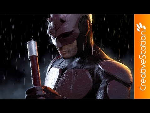 Daredevil - 3D Speed art (#ZBrush, #Blender, #Photoshop) | CreativeStation
