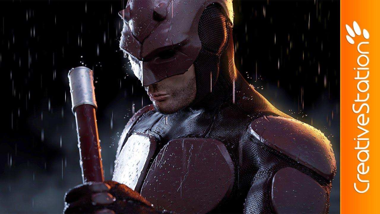 Daredevil - 3D Speed art (#ZBrush, #Blender, #Photoshop) | CreativeStation
