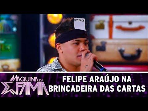 Felipe Araújo e Patricia Abravanel se divertem em game | Máquina da Fama (14/08/17)