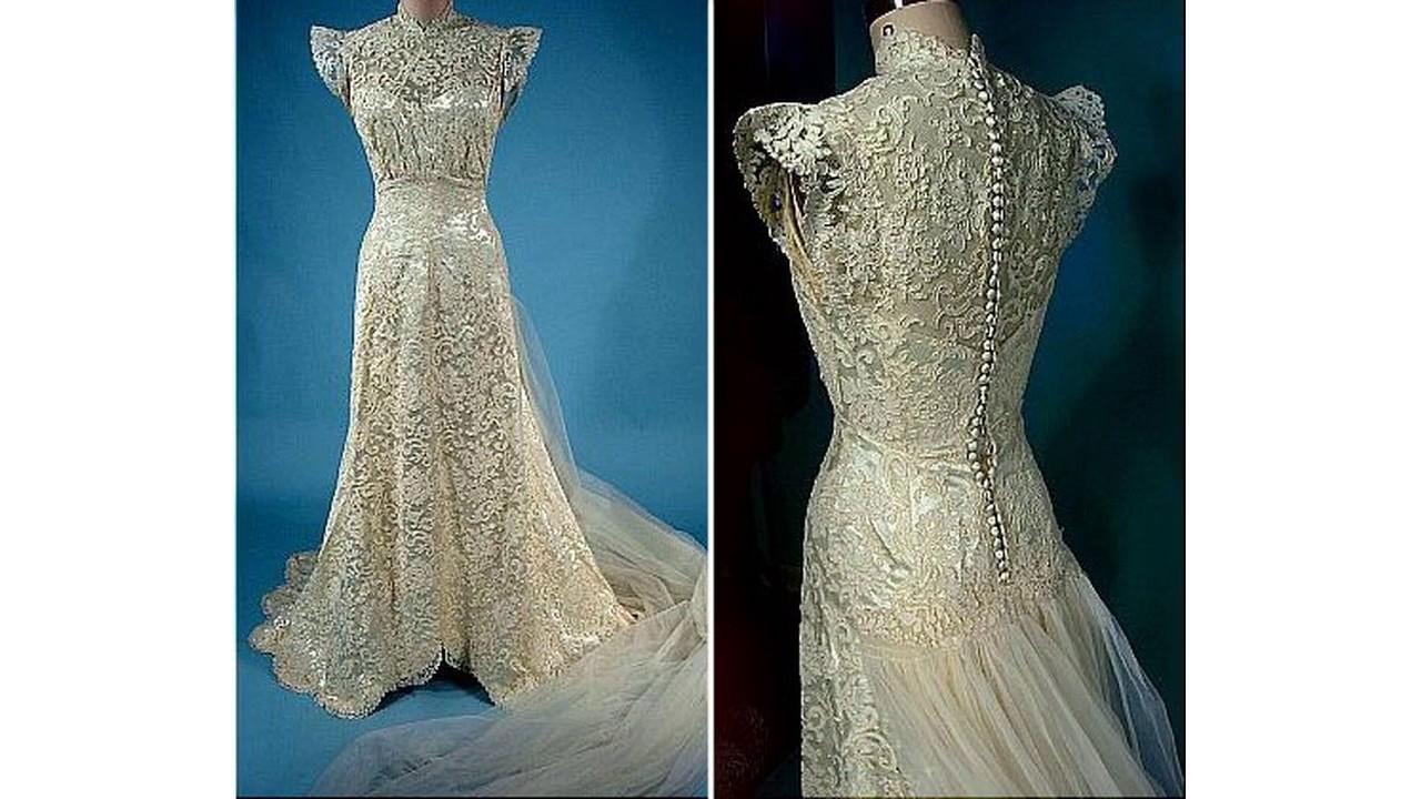 Los mejores Vestido de novia de encaje vintage - YouTube