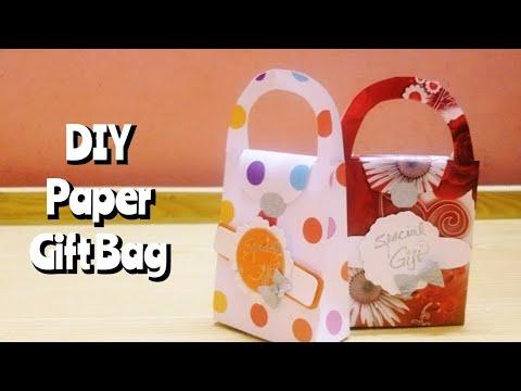 DIY Super easy gift bag paper craft tutorial 🍫🍫