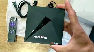 Чіп A5X Макс смарт Android TV коробка 7.1 RK3328 чотирьохядерний процесор 4 ГБ оперативної пам'яті 32 ГБ ROM з USB3.0 2.4 Г/5 г бездротовий доступ в інтернет