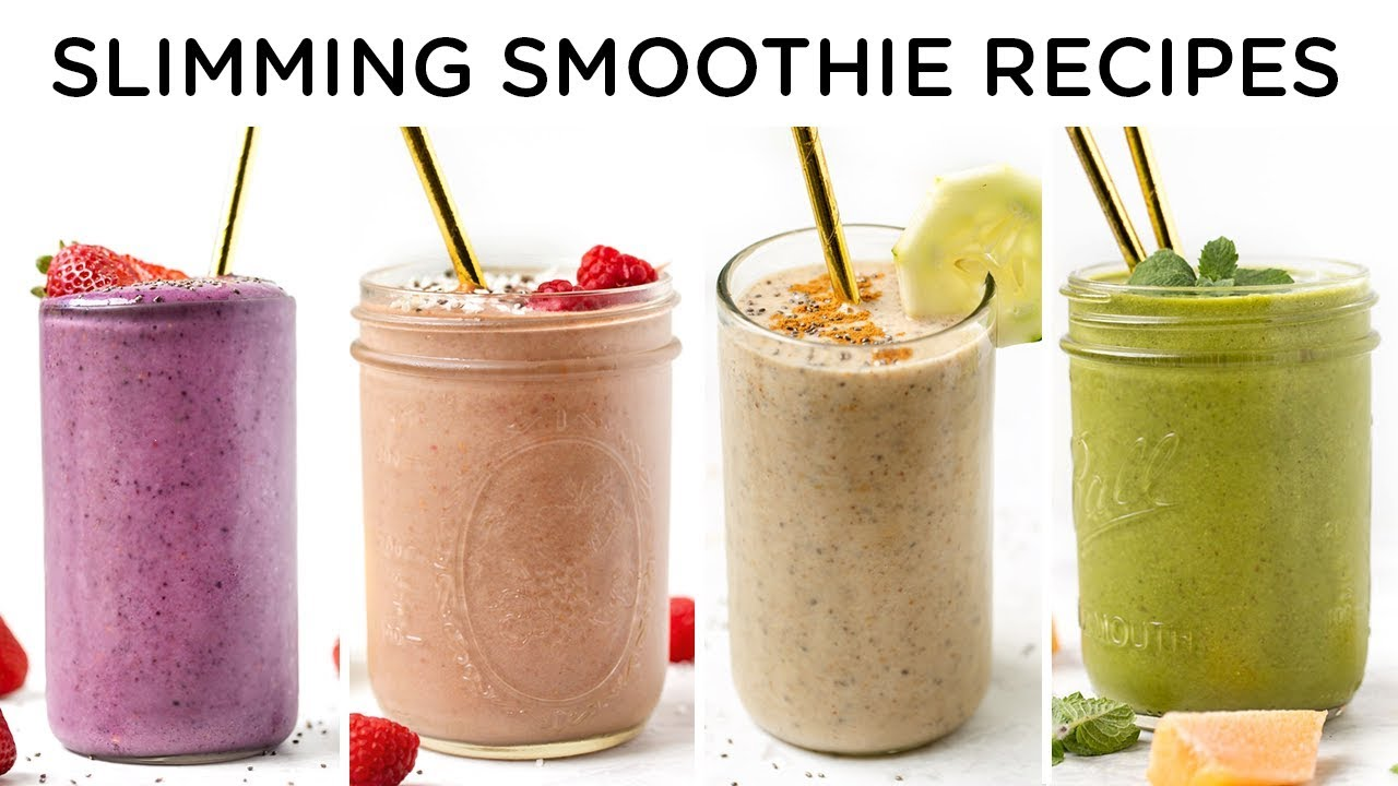SLIMMING SMOOTHIE RECIPES ‣‣ 4 easy smoothie recipes