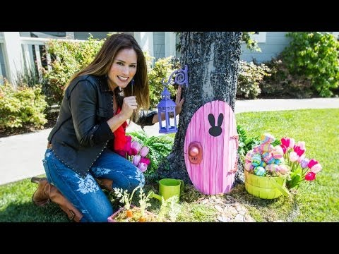 Home family how to make an easter bunny door for How to make easter decorations for the home