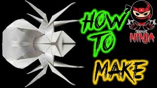How to make: Origami Spider