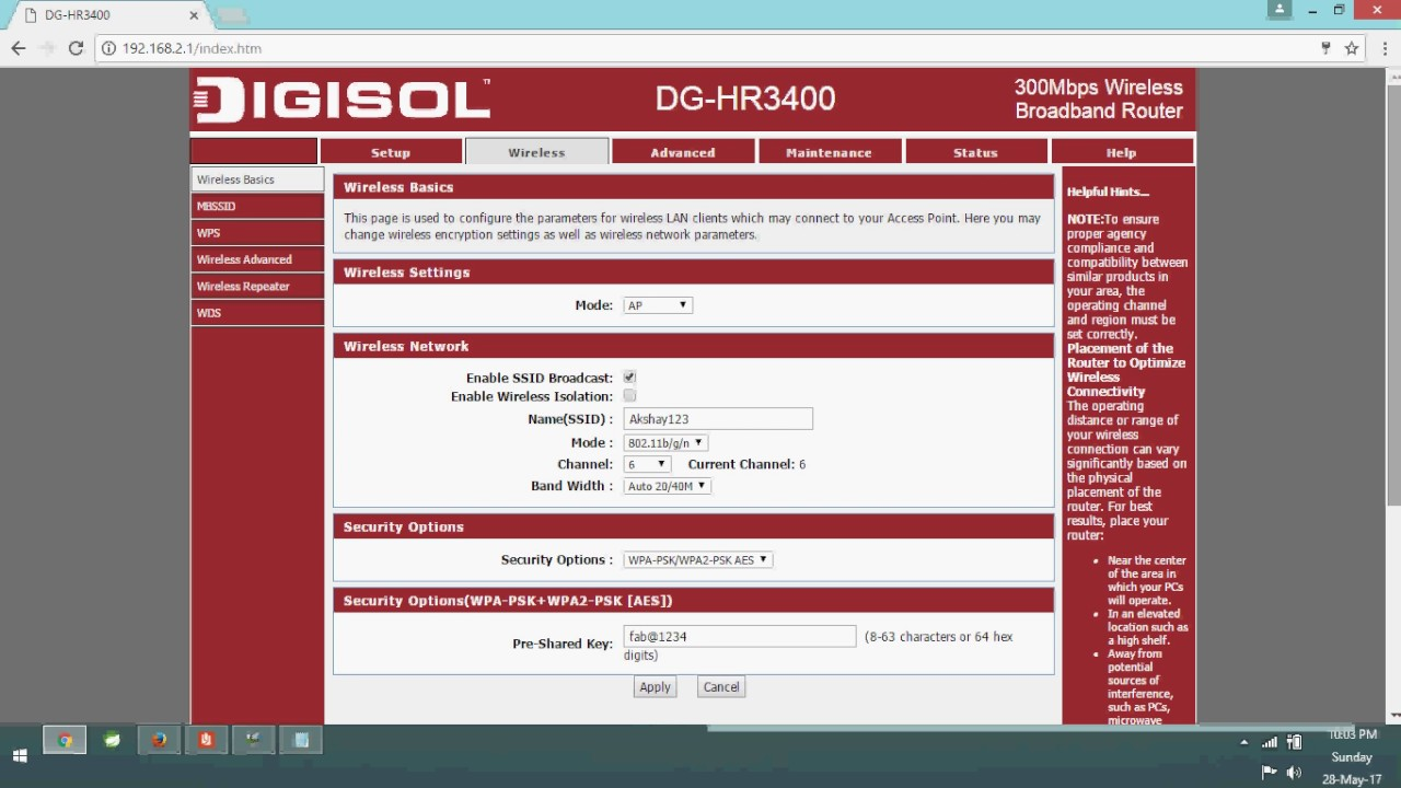 How to change password of wifi router digisol