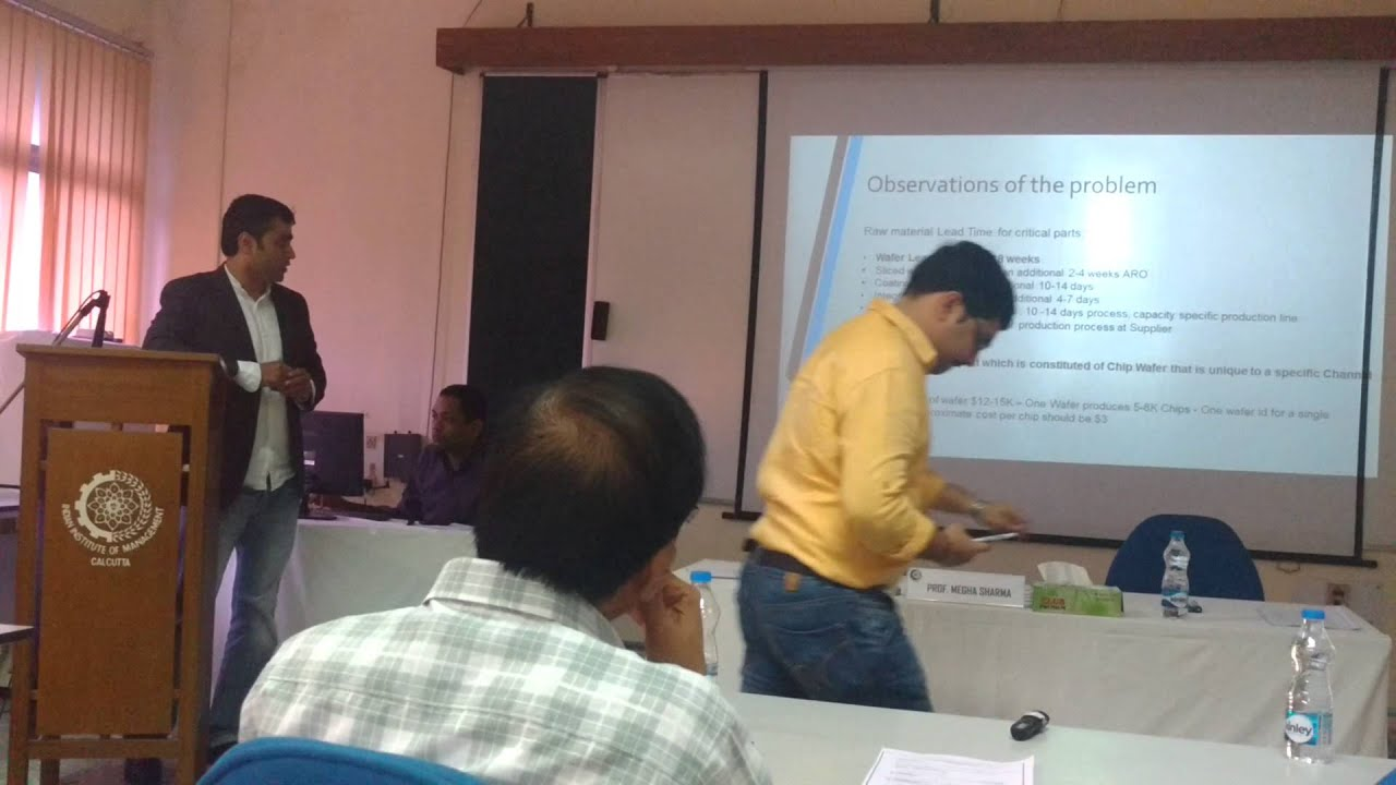 Dr manik's research paper presentation at iim international.