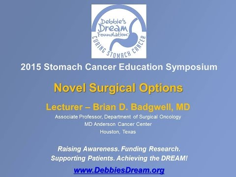 Novel Surgical Options – Brian Badgwell, MD, MD Anderson Cancer Center