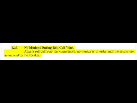 New Jersey Assembly Rule 12-3