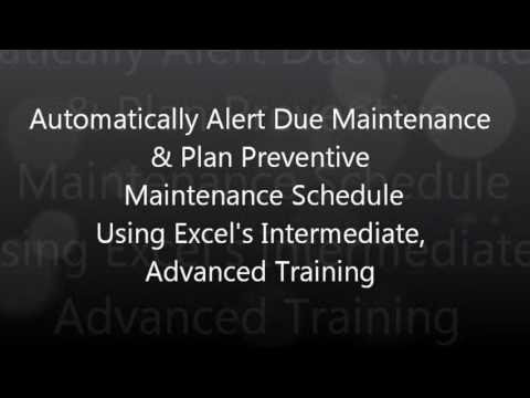 Automatically Alert Due Maintenance & Plan Preventive Maintenance Schedule Using Excel