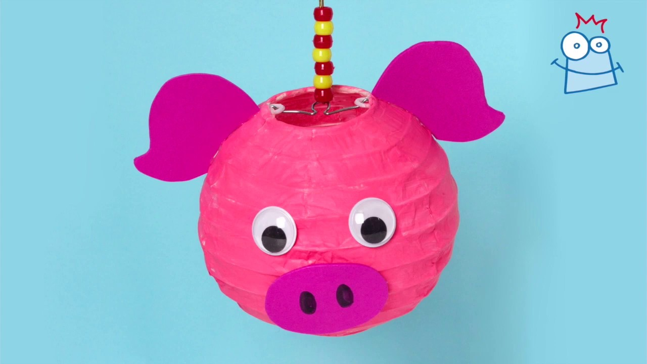 How to make a Pig Lantern | Chinese New Year Crafts