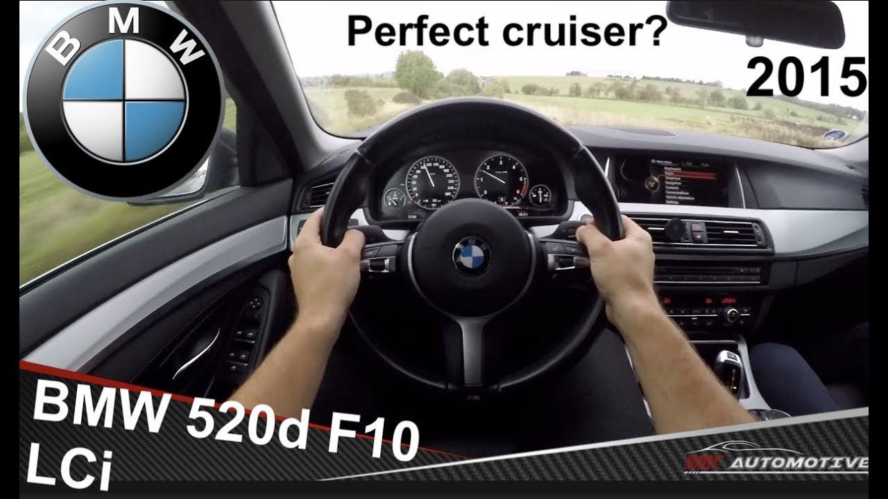 BMW 520d F10 LCi (2015) POV Test Drive + Acceleration 0 - 200 km/h