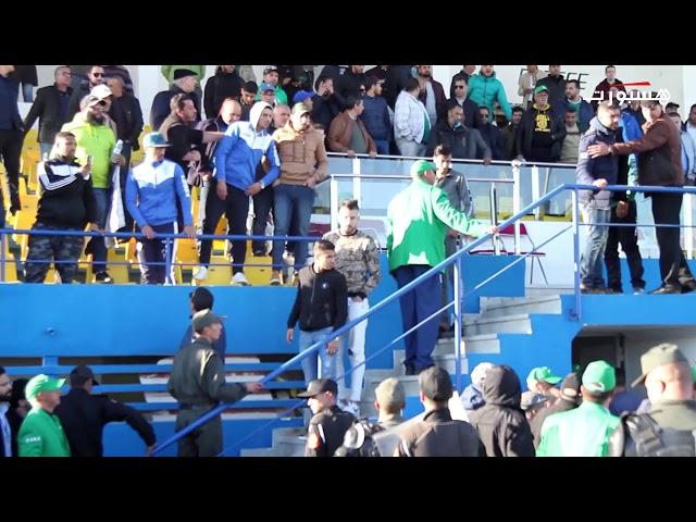 جماهير الرجاء تهاجم اللاعبين بعد نهاية لقاء تطوان