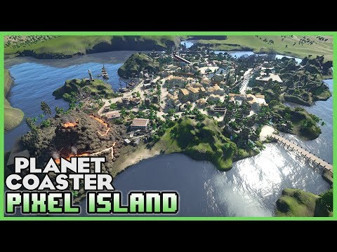 PIXEL ISLAND! Discover the Adventure! Park Spotlight 70 #PlanetCoaster
