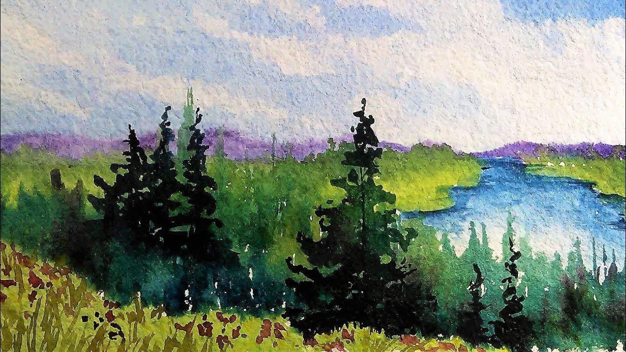 woods meadow and lake beginner