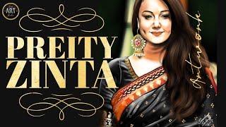 Preity Zinta Painting
