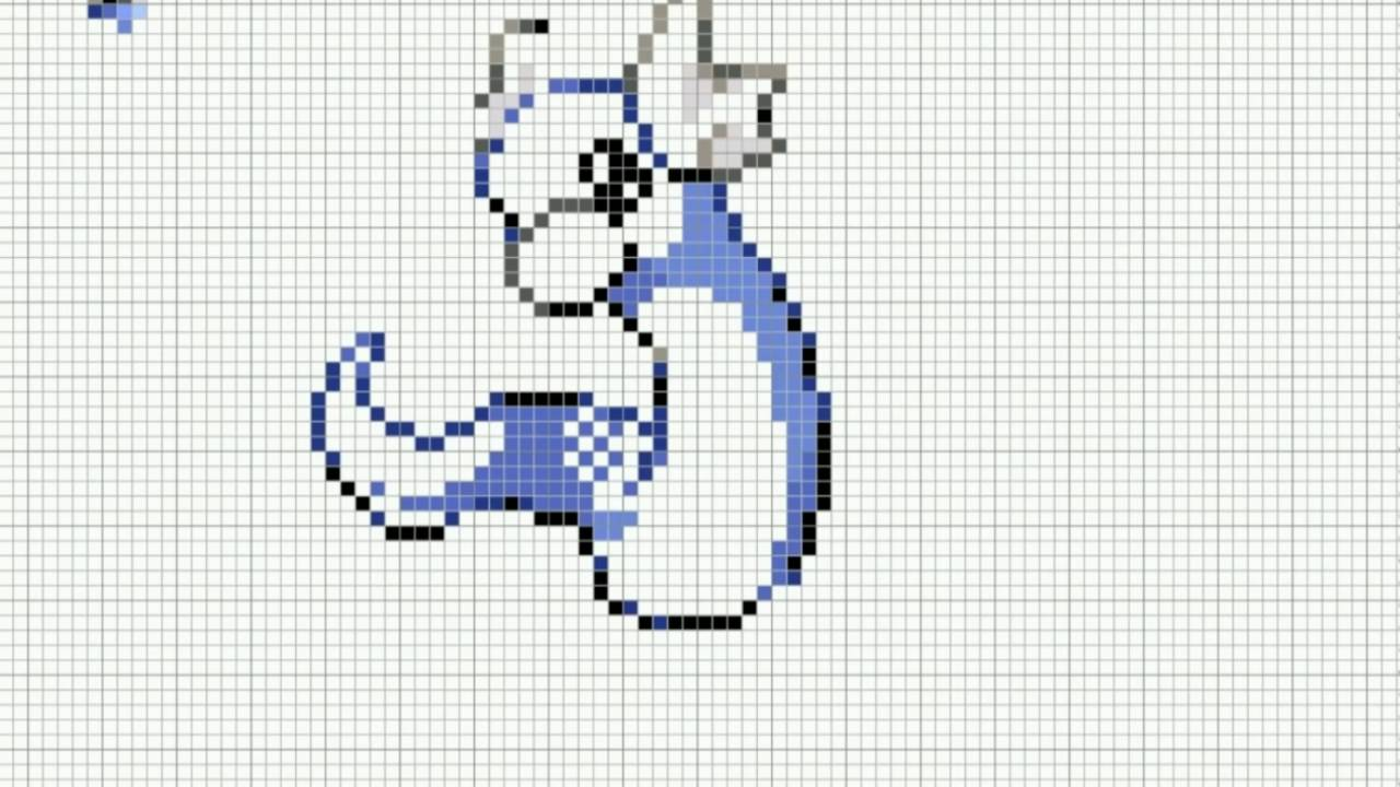 Speed Pixel Art Pokemon Minidraco