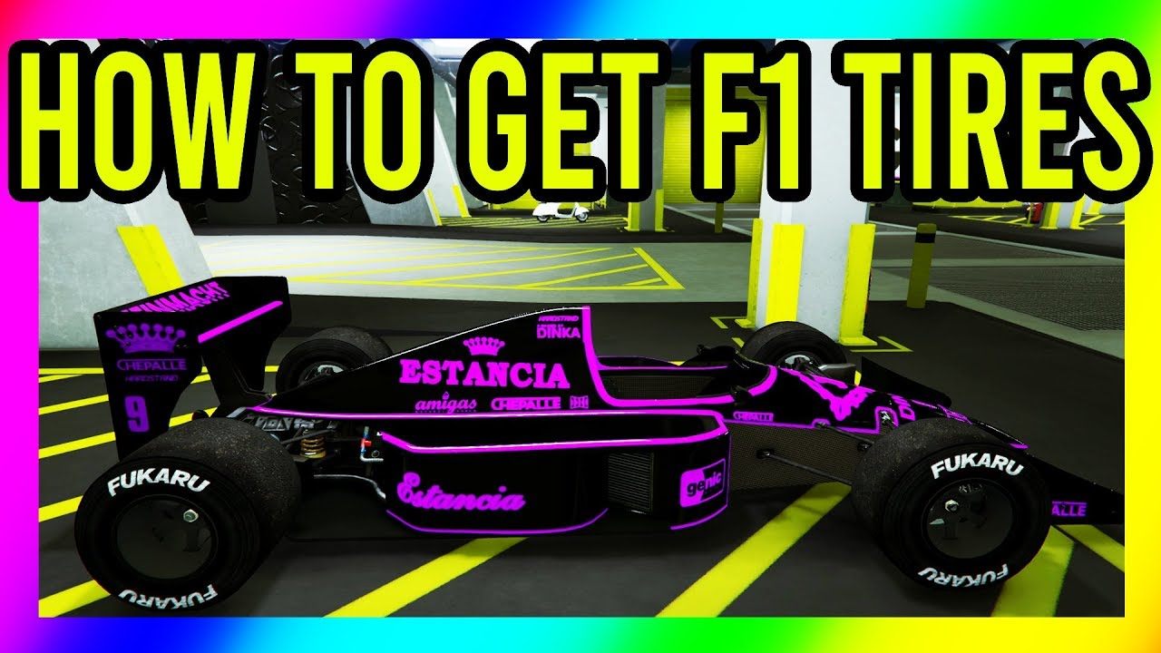 Gta 5 How To Obtain And Transfer F1 Tires To Any Car Solo How To Get F1 Tires Youtube