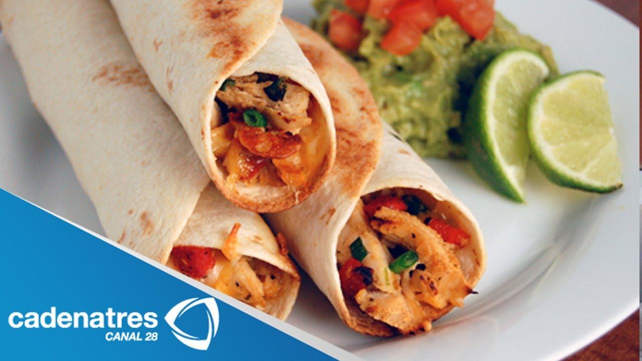 Receta De Saludables Tacos De Pollo Youtube
