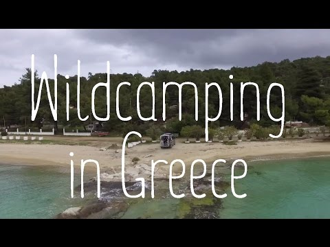 Travelling in Greece with a van - Wildcamping on the beach