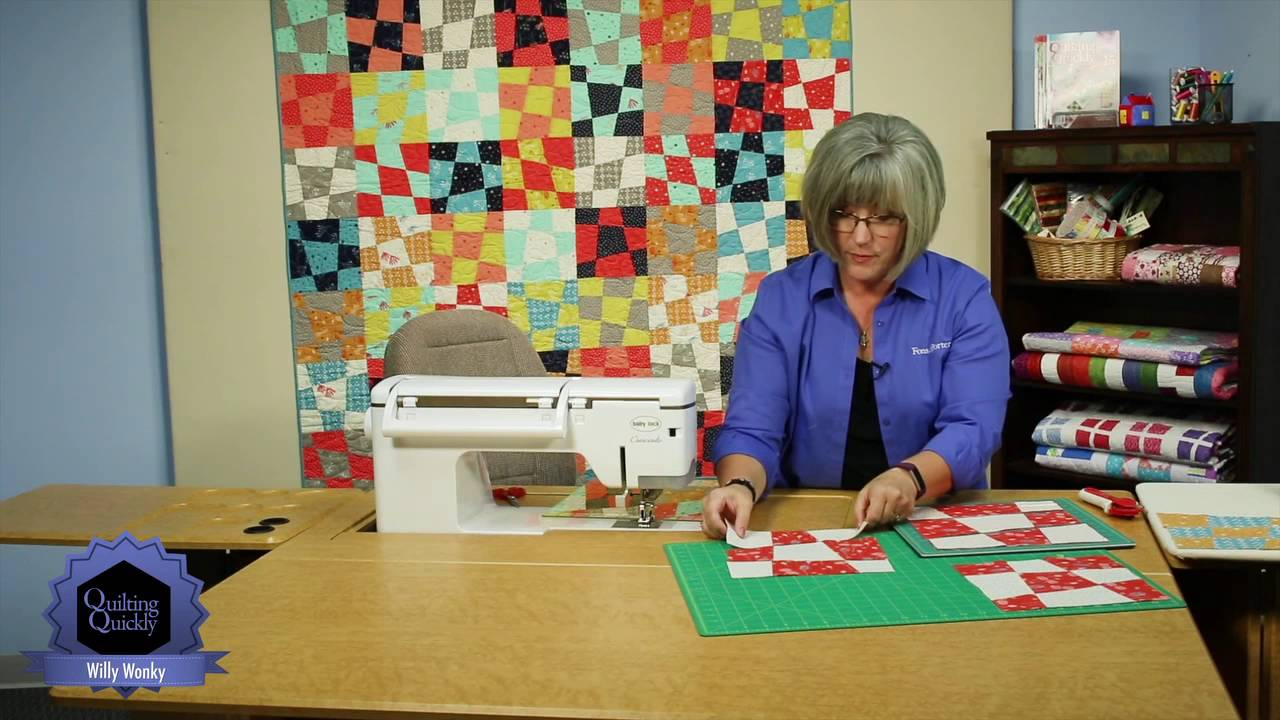 quilting quickly willy wonky wonky nine patch quilt pattern