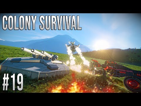 Space Engineers - Colony Survival Ep #19 - DRONE ATTACK!!