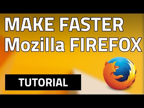 How To Make MOZILLA FIREFOX Faster In Less Than 2 Minutes! FREE! (HD)