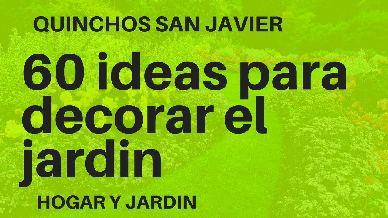 como decorar un jardn pequeo ideas sper creativas
