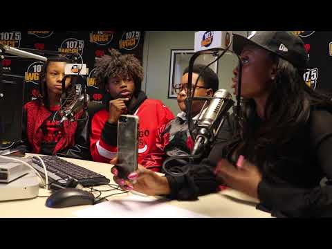 """The Kids From """"The Chi"""" Takes Over WGCI Studio!"""