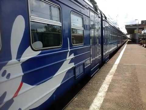 Электропоезд ЭД4М-0402 РЭКС станция Кубинка-1 10.06.2016