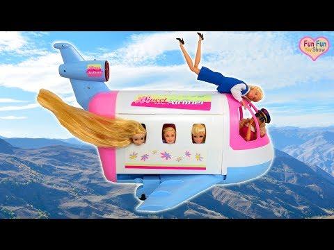 New Airliner for Barbie doll Pesawat Udara Baru untuk boneka Barbie Novo Avi茫o de ar para Barbie